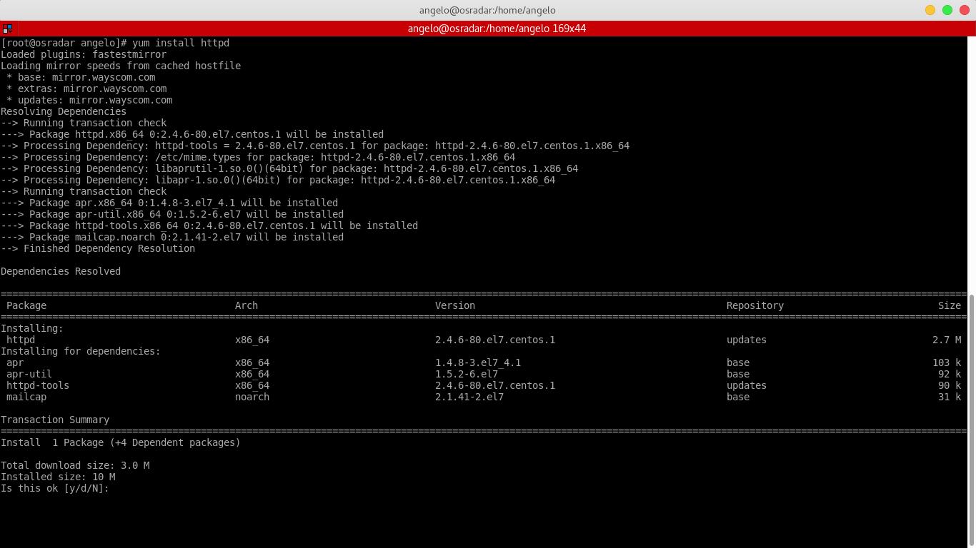 1.- Installing Apache Web server