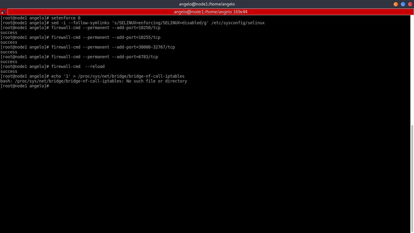 11.- Setting Firewall rules on Node1
