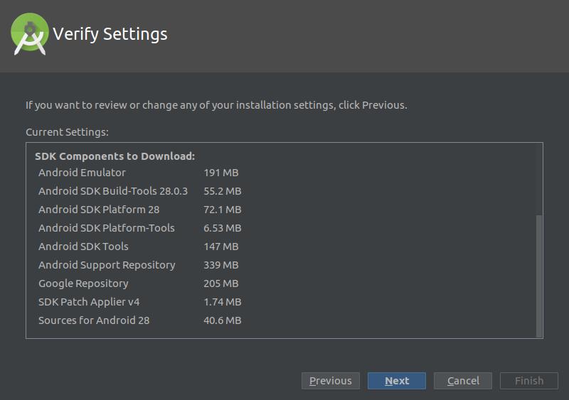 12.- Installtion settings