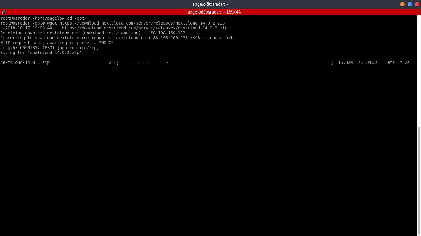 12.- Install Nextcloud