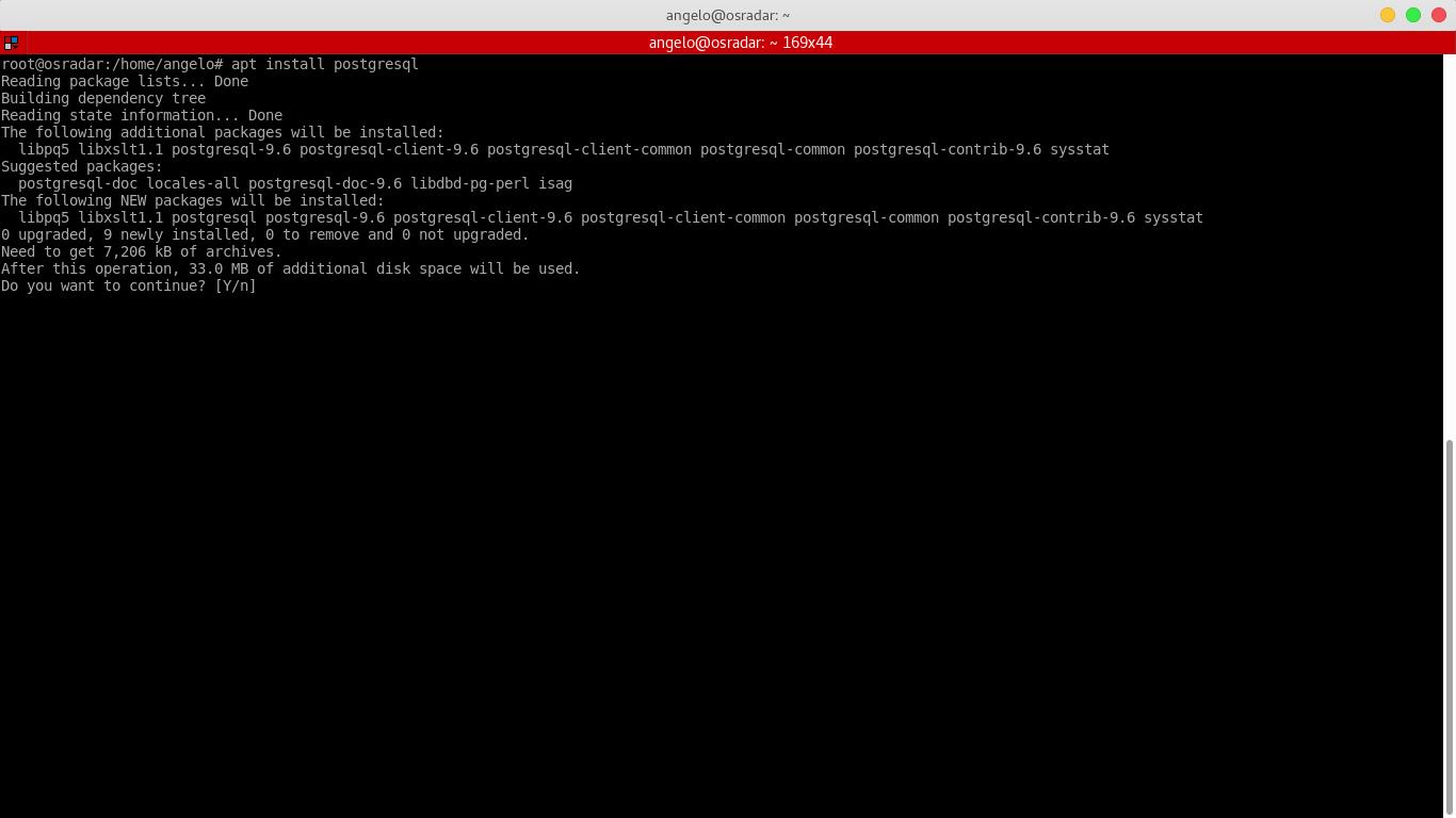 2.- Installing postgreSQL