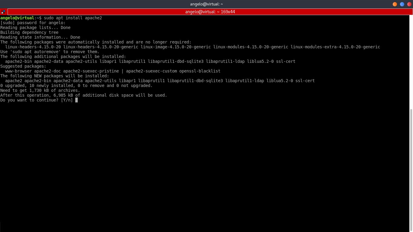 2.- Install apache web server