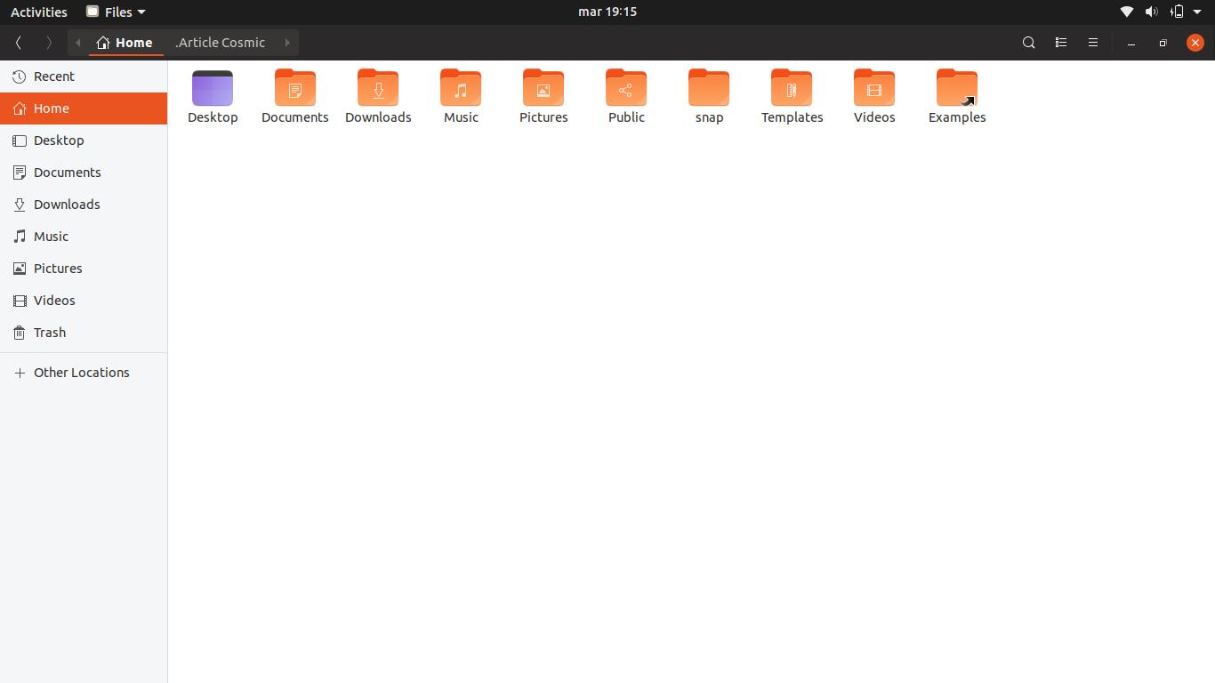 3.- Nautilus 3.26 on Ubuntu 18.10 Beta