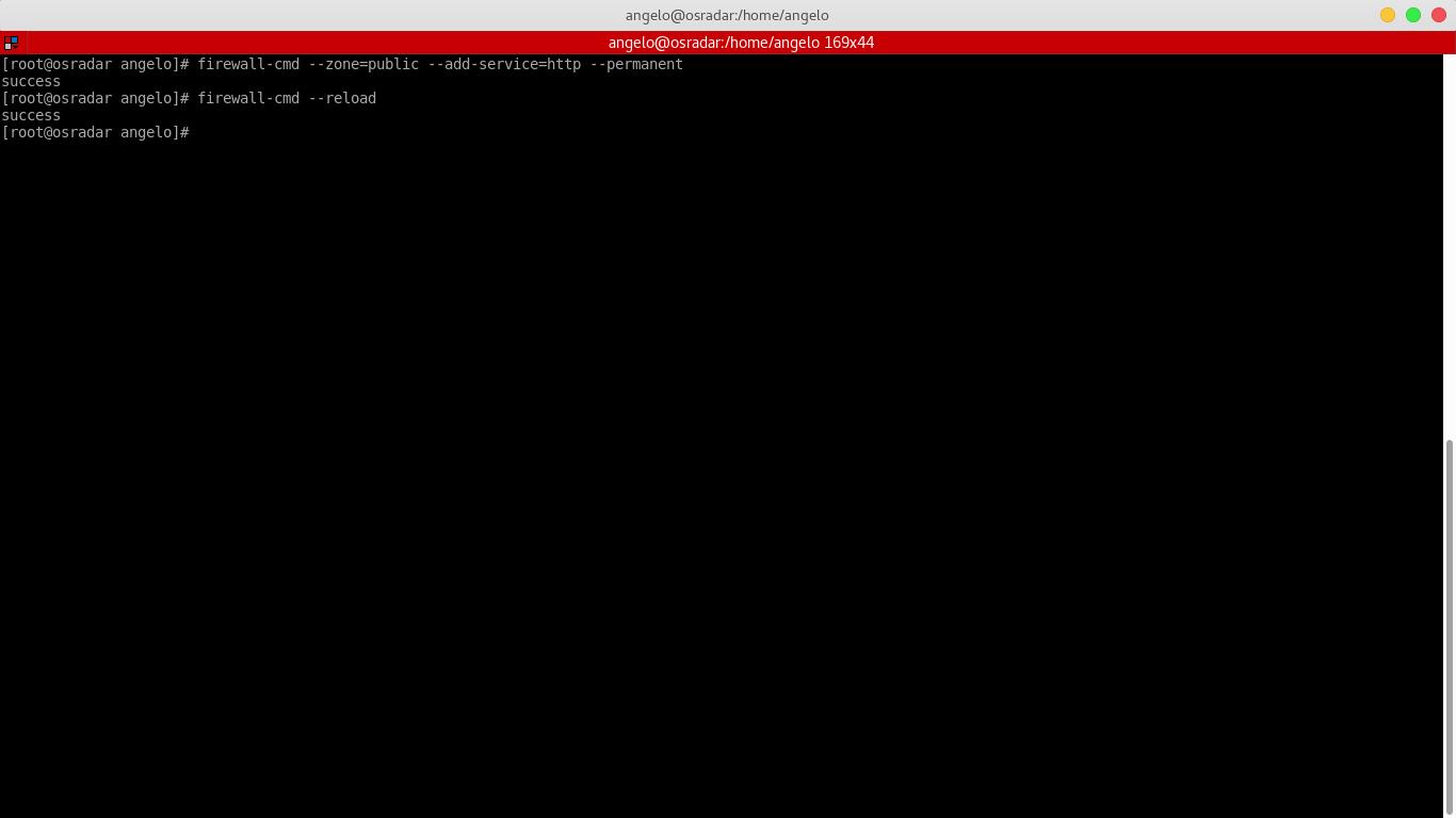 3.- Setting a Firewall rule to apache web server