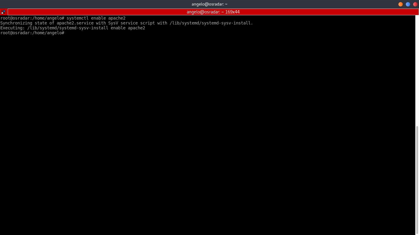 3.- Enabling apache web server service