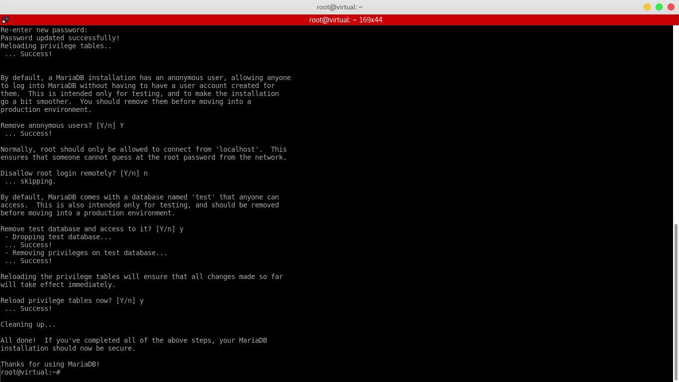 3.- Configuring MariaDB