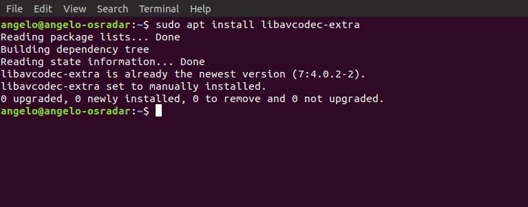 3.- installing libavcodec-extra