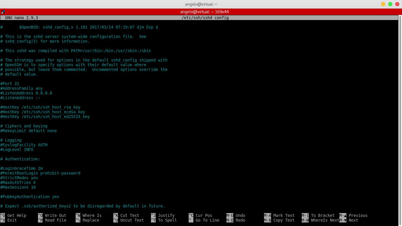 4.- SSH configuration file