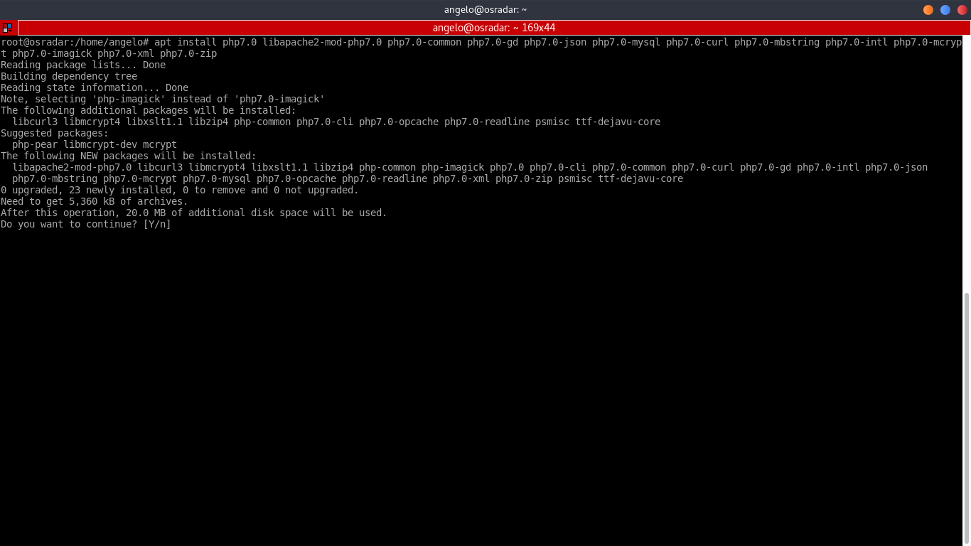 5.- Installing PHP