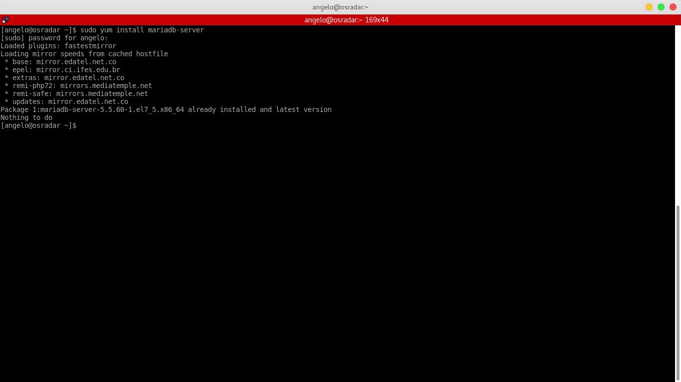 5.- Installing mariadb-server