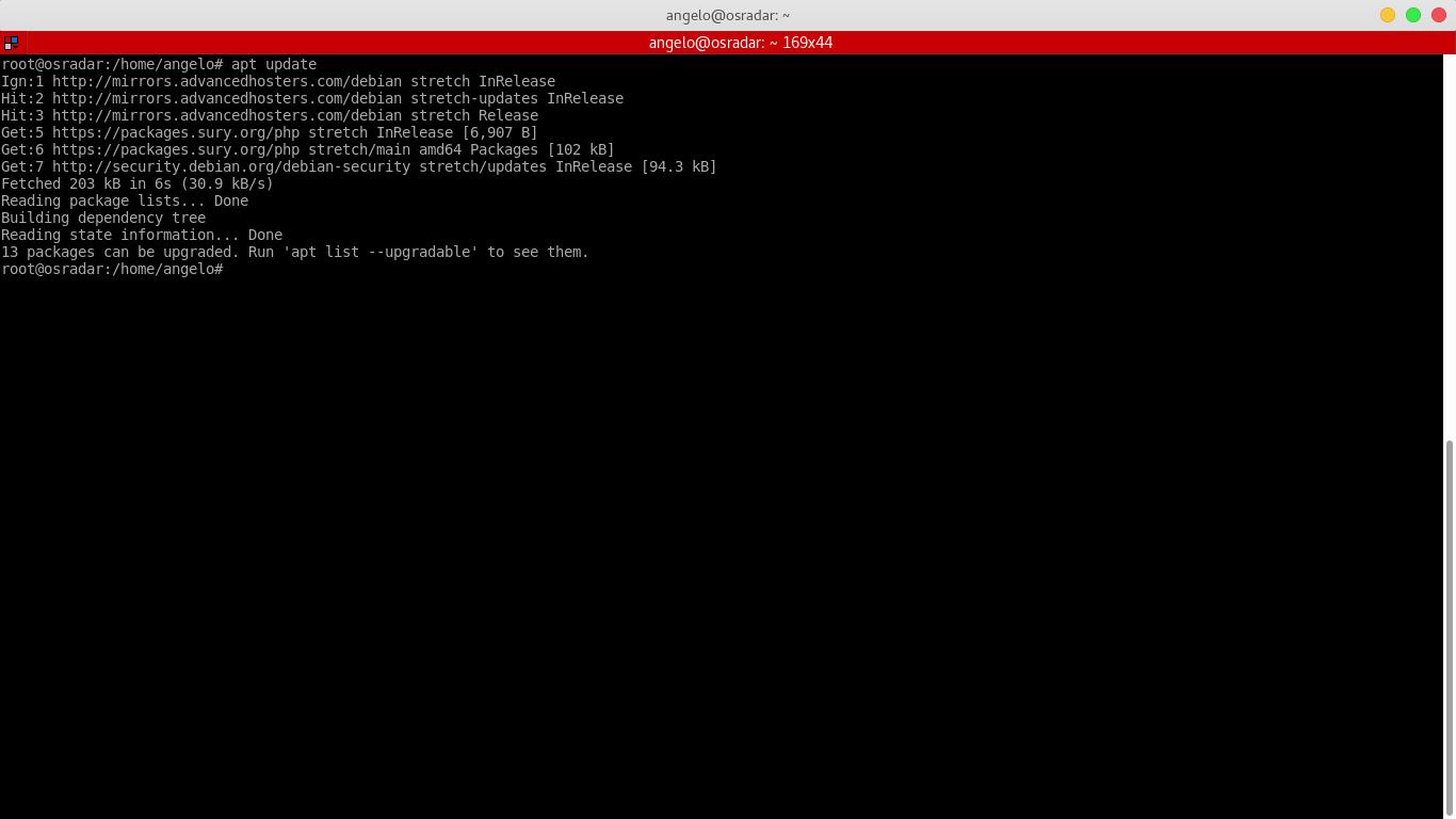 6.- apt update command