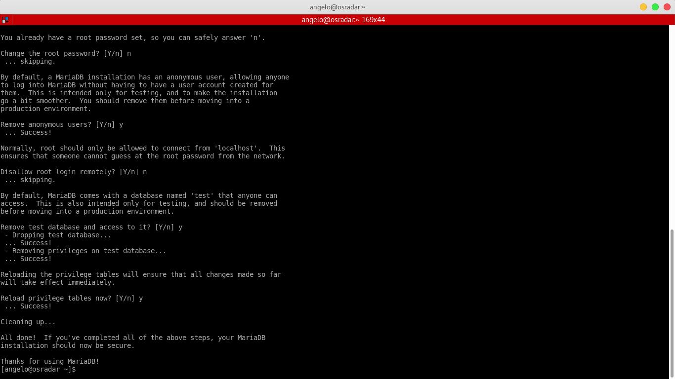 6.- mysql_secure_installation script