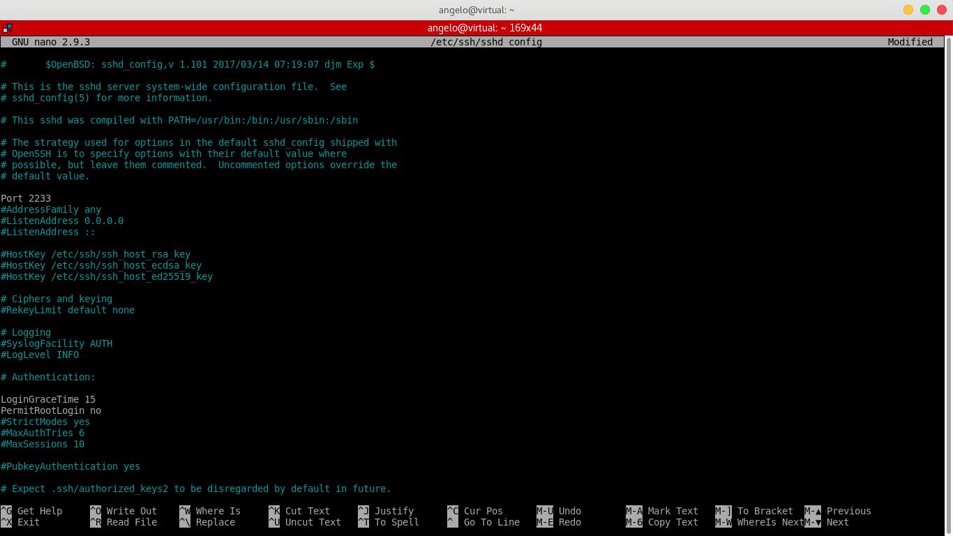 7.- Disabling the root login via SSH