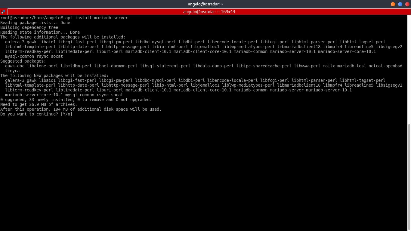 8.- Install MariaDB server