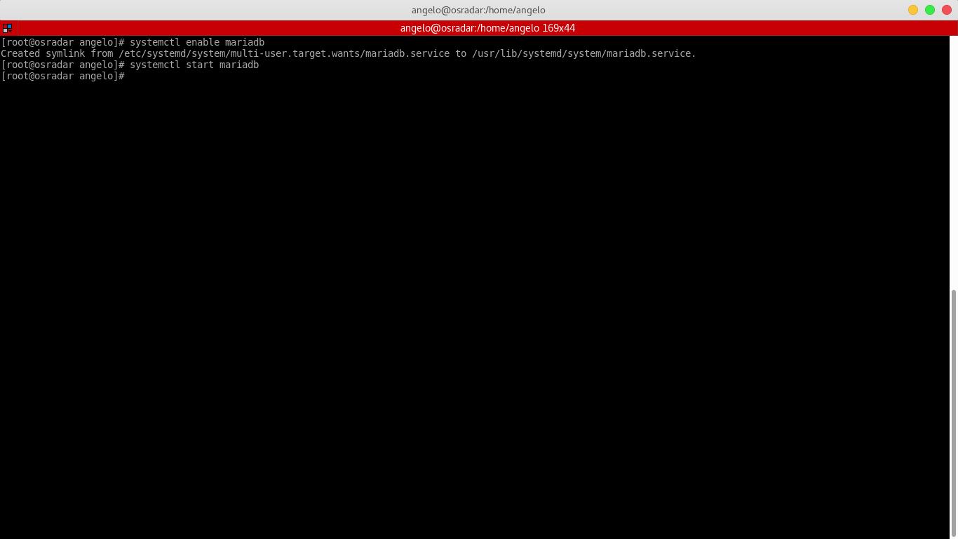 9.- Enabling the MariaDB service