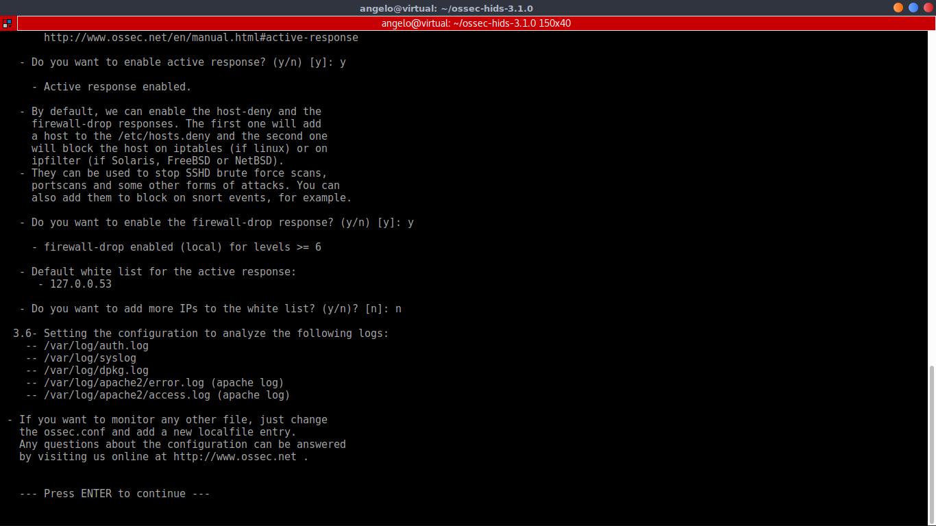 10.- Install OSSEC