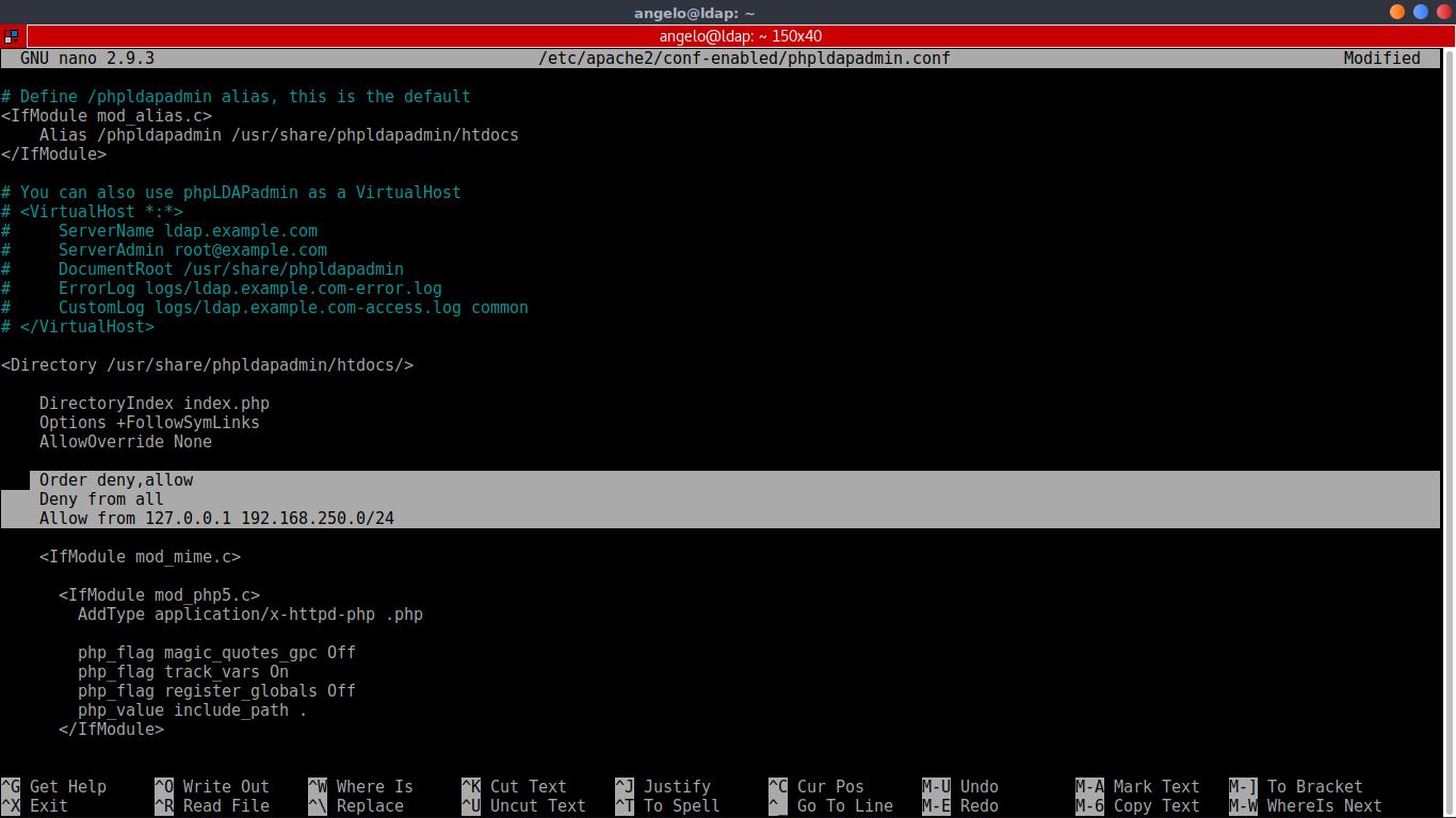 10.- Configuring phpLDAPadmin