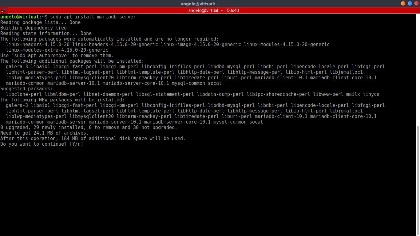 10.- Installing MariaDB