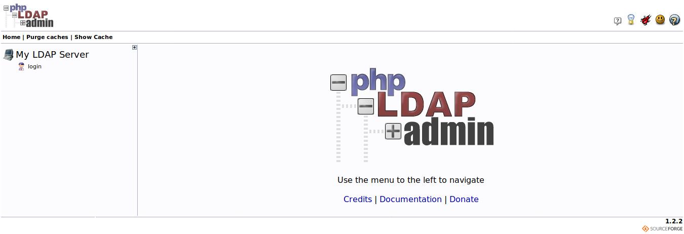 12.- phpLDAPadmin main page