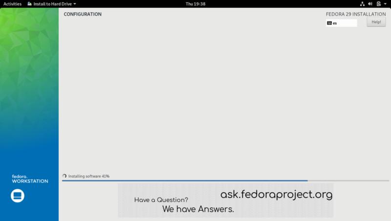 13.- Installing Fedora 29