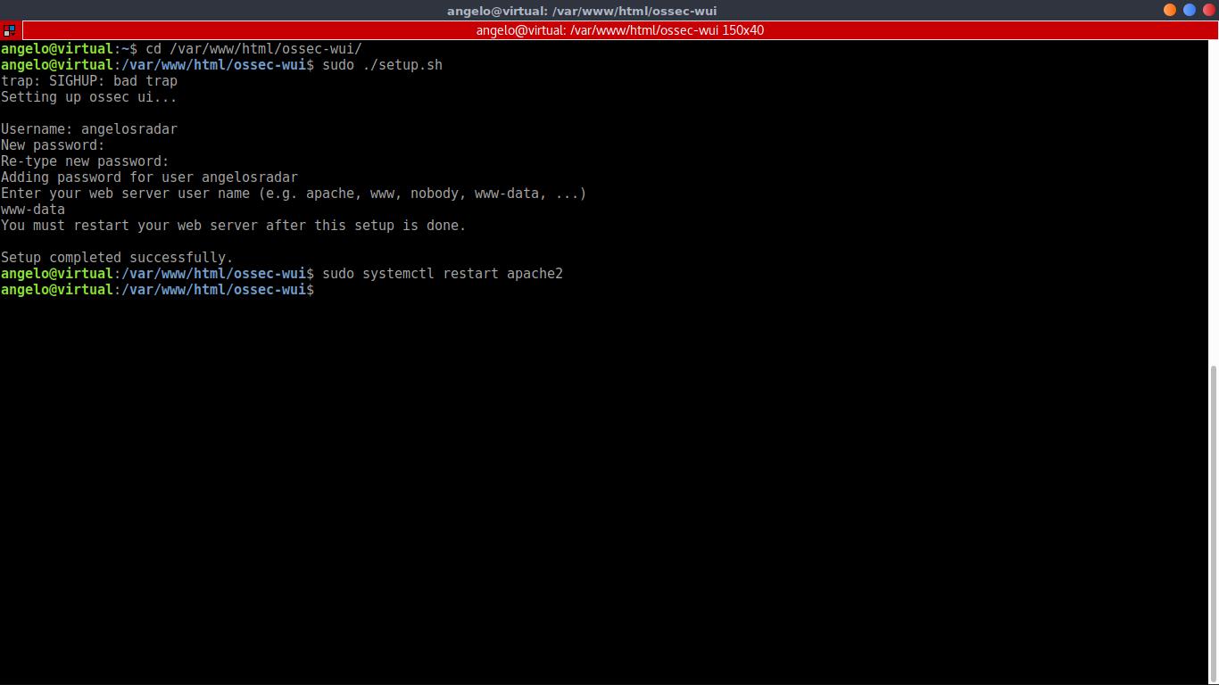 15.- Installing OSSEC web UI