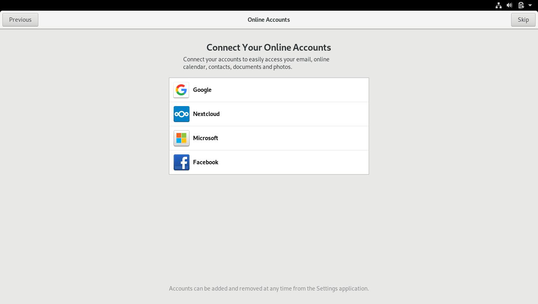 16.- Online accounts settings