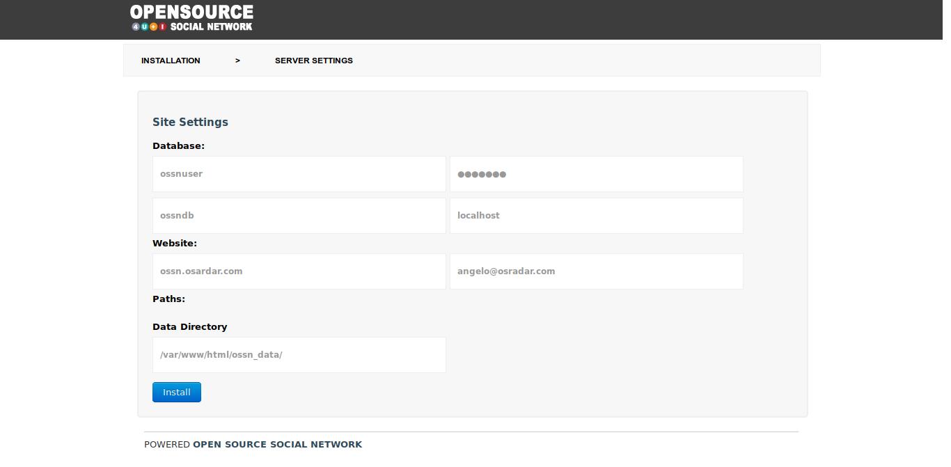19.- Database settings