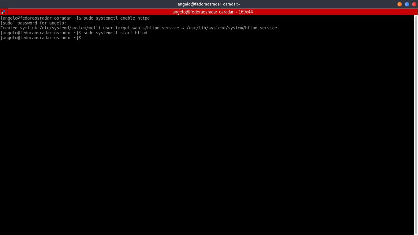 2.- Enabling httpd service
