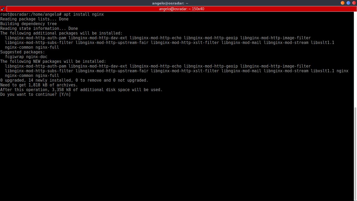 2.- Install Nginx