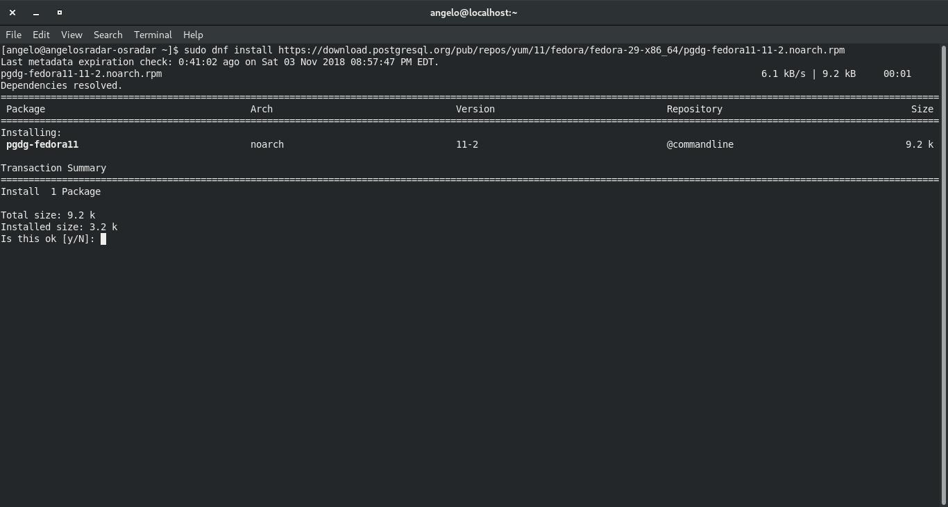 2.- Adding the PostgreSQL repository