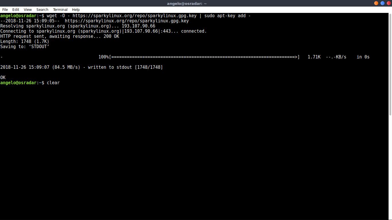 2.- Adding the GPG key