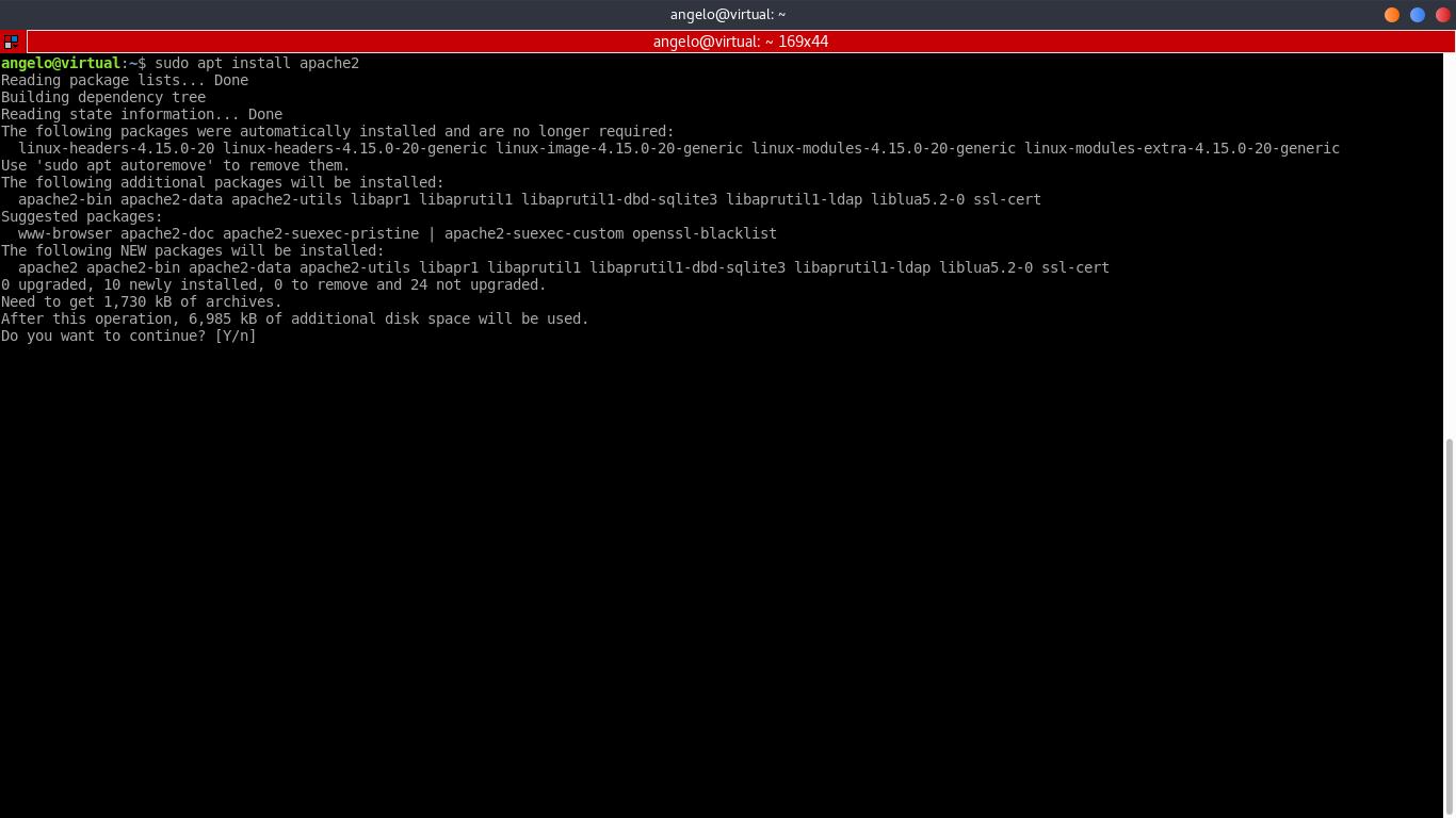 2.- Installing apache web server