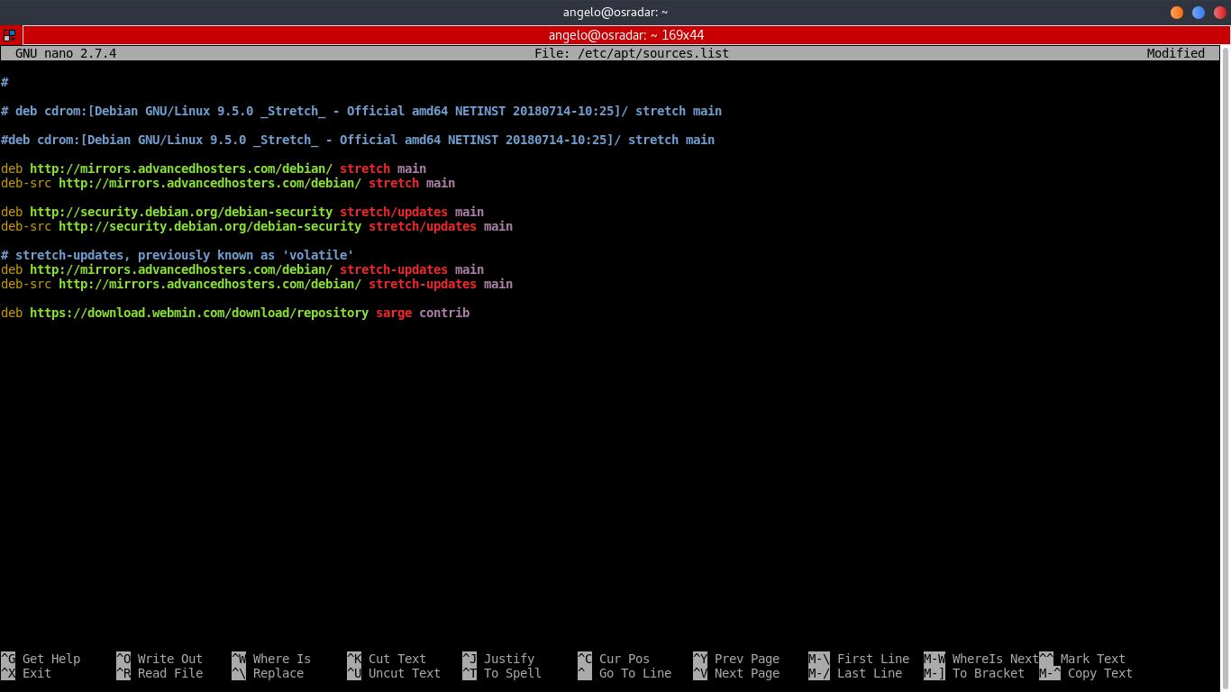 2.- Edit the APT source file