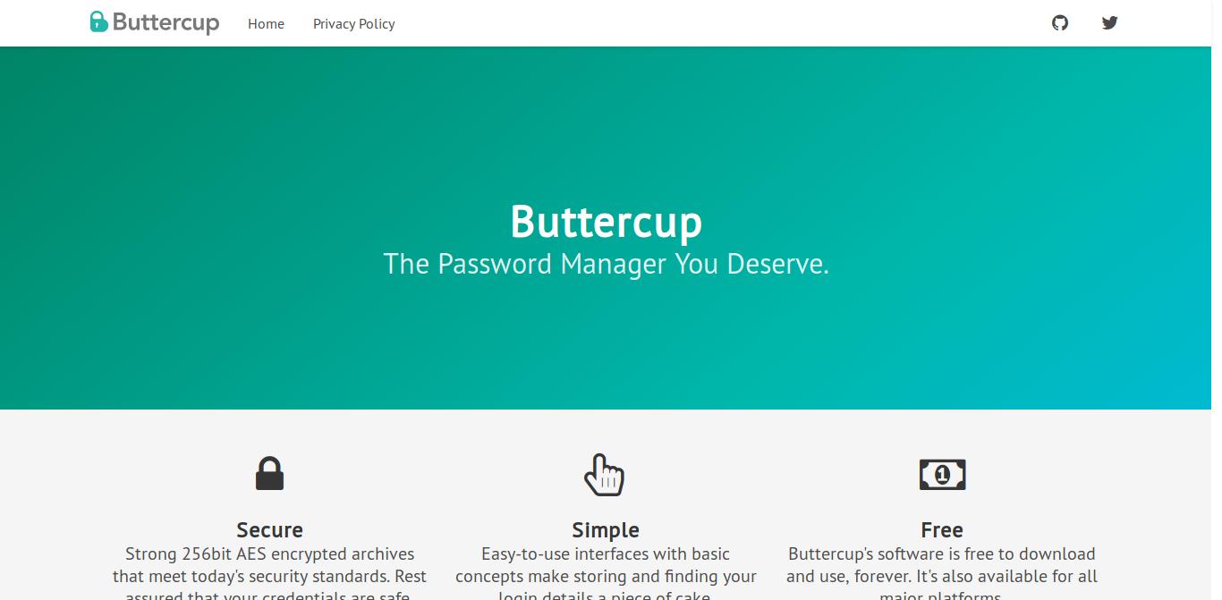 Buttercup website