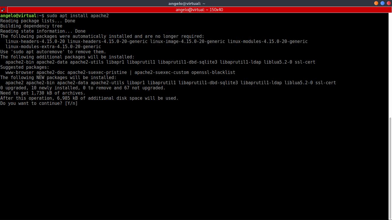 3.- Installing Apache web server