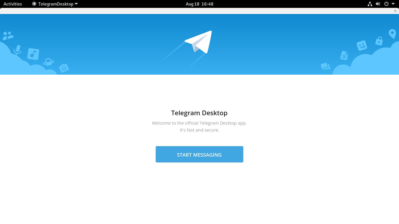 4.- Opening Telegram desktop client on Linux