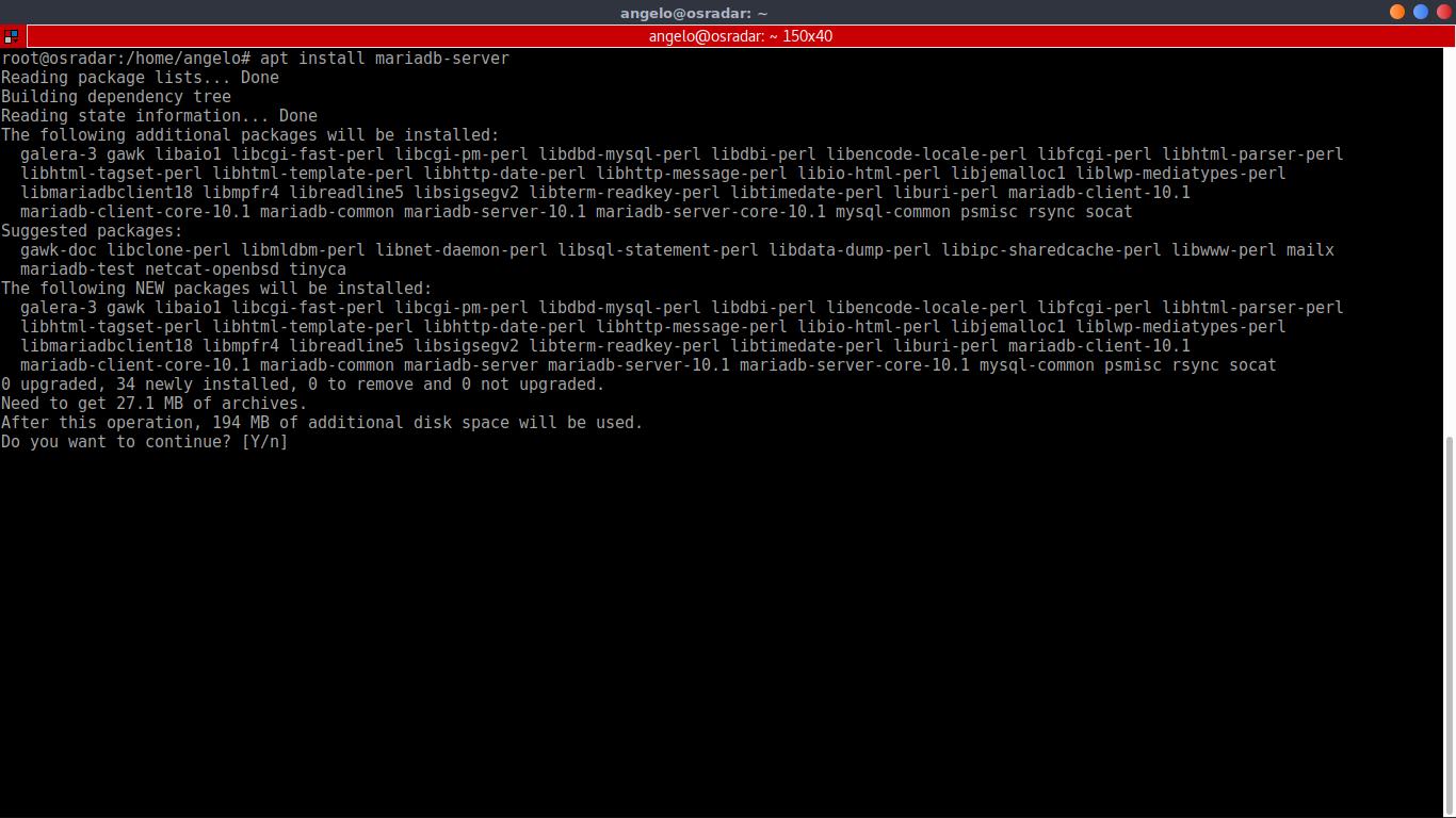 4.- Installing MariaDB