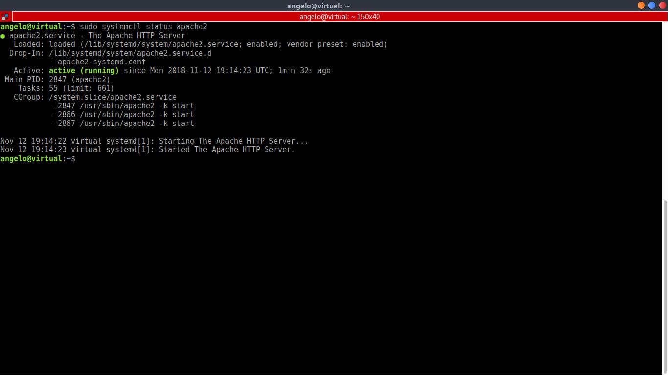 4.- Apache service status