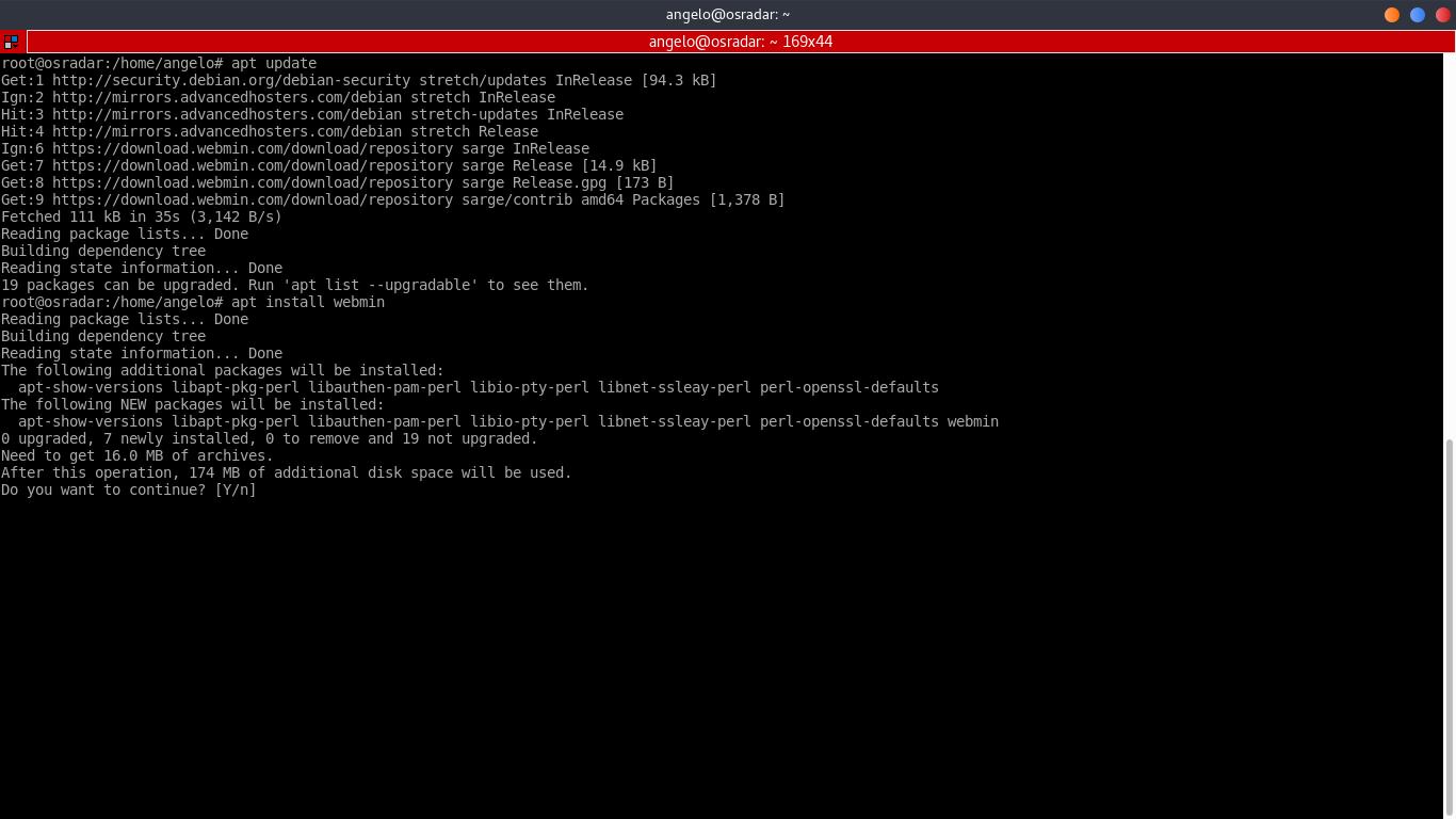 5.- Install Webmin