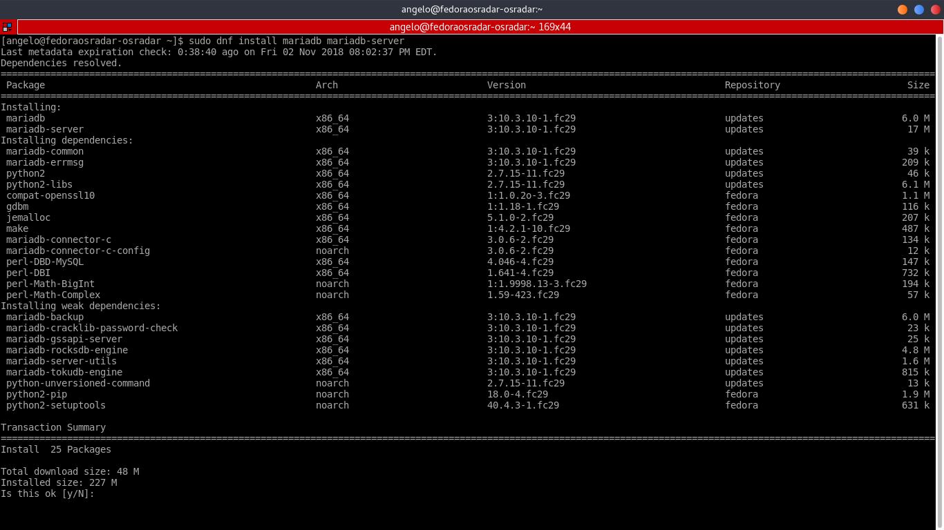 7.- Install MariaDB