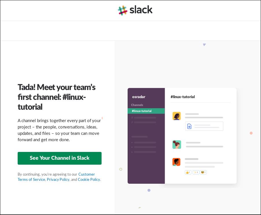 8.- Slack is correctly Installed