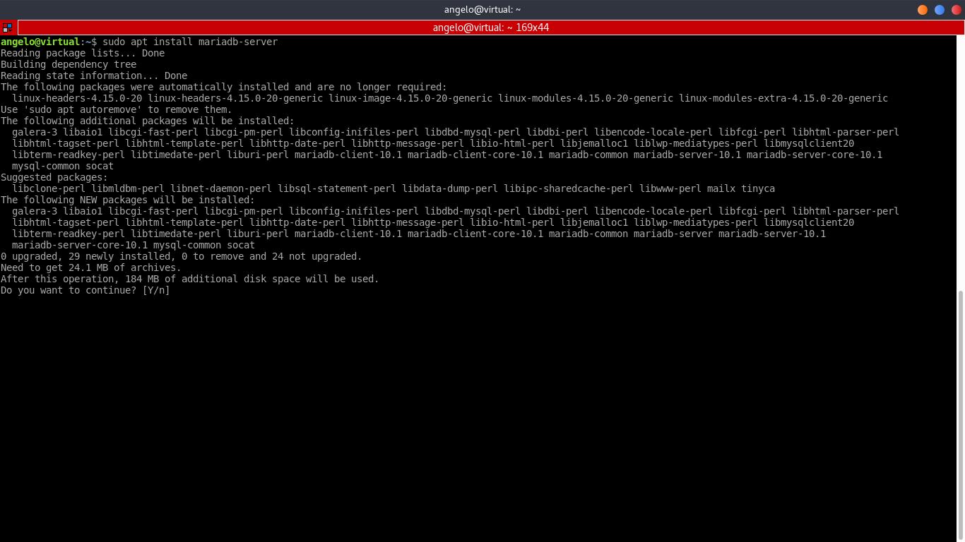 8.- Installing MariaDB