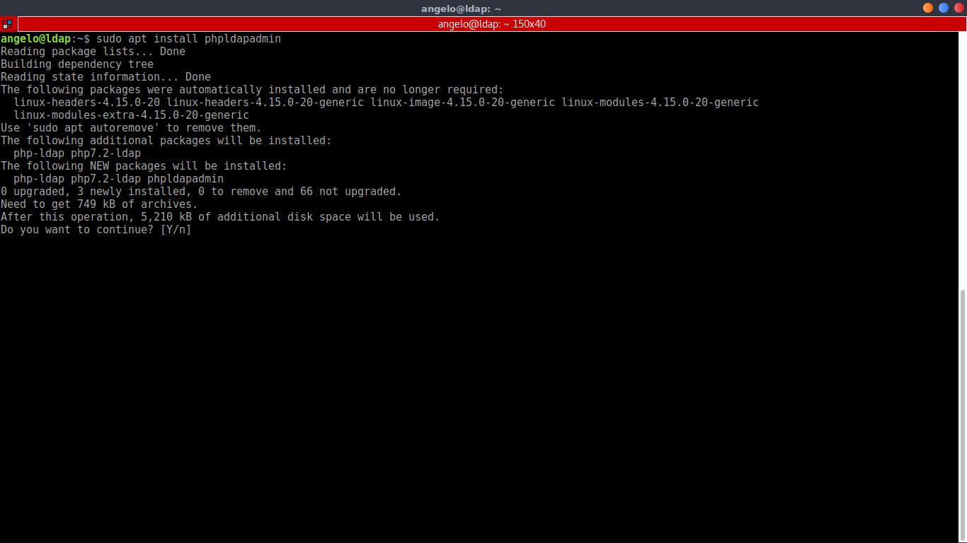 9.- Installing phpLDAPadmin