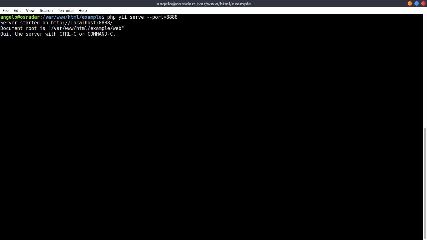 10.- Starting Yii PHP