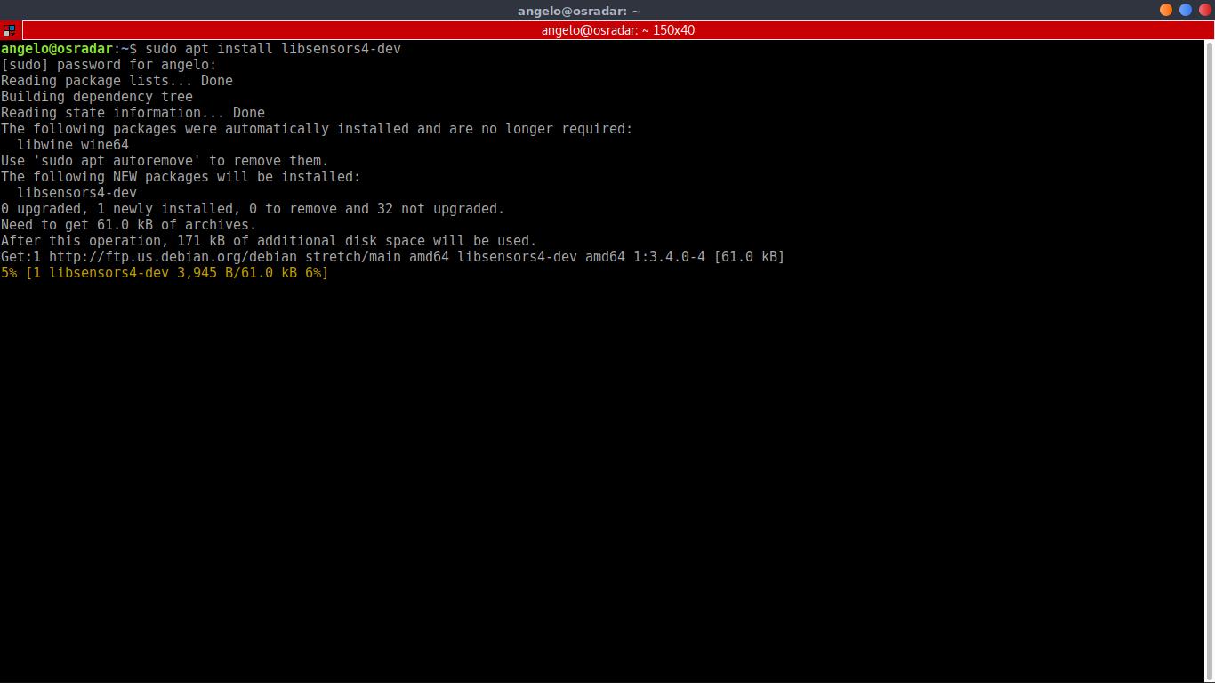 1.- Install libsensors