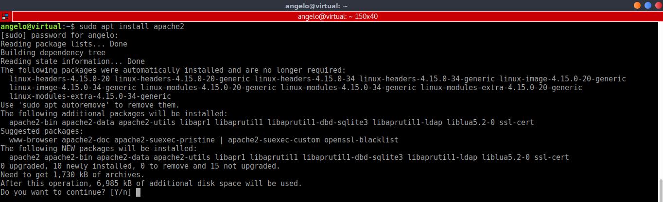 1.- Install apache web server