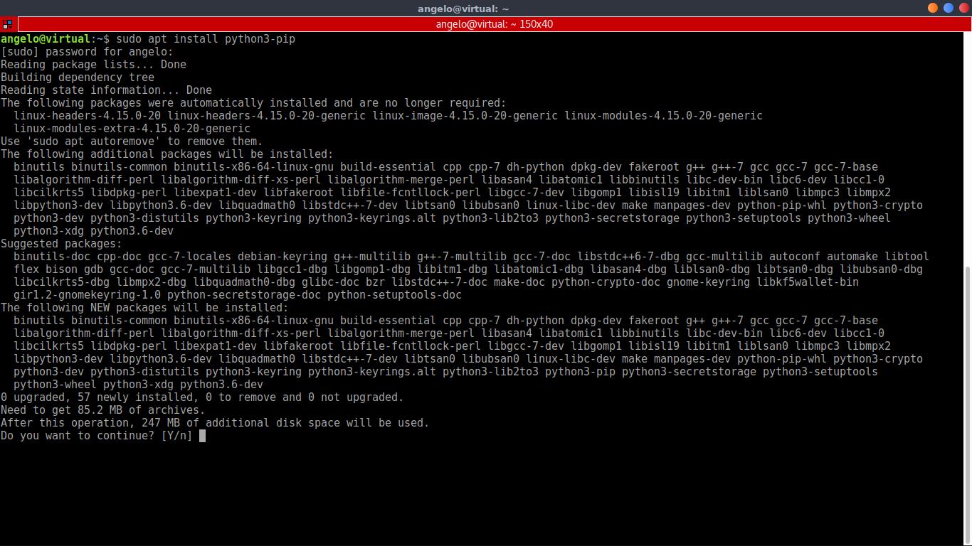 1.- Installing python pip