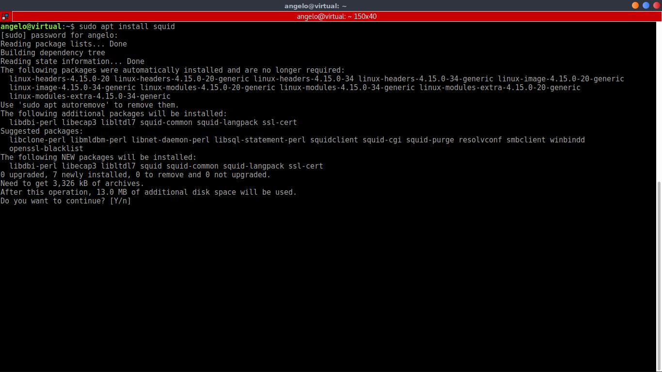 1.- Install Squid Proxy