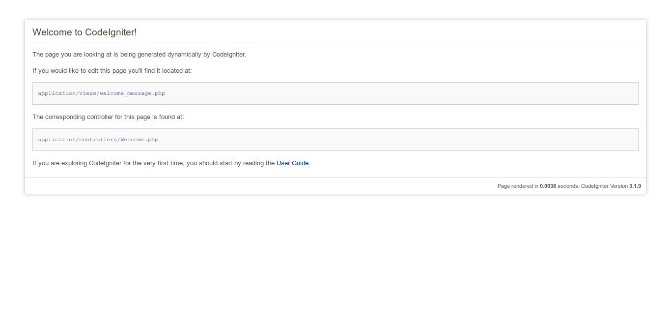14.- Codeigniter default page