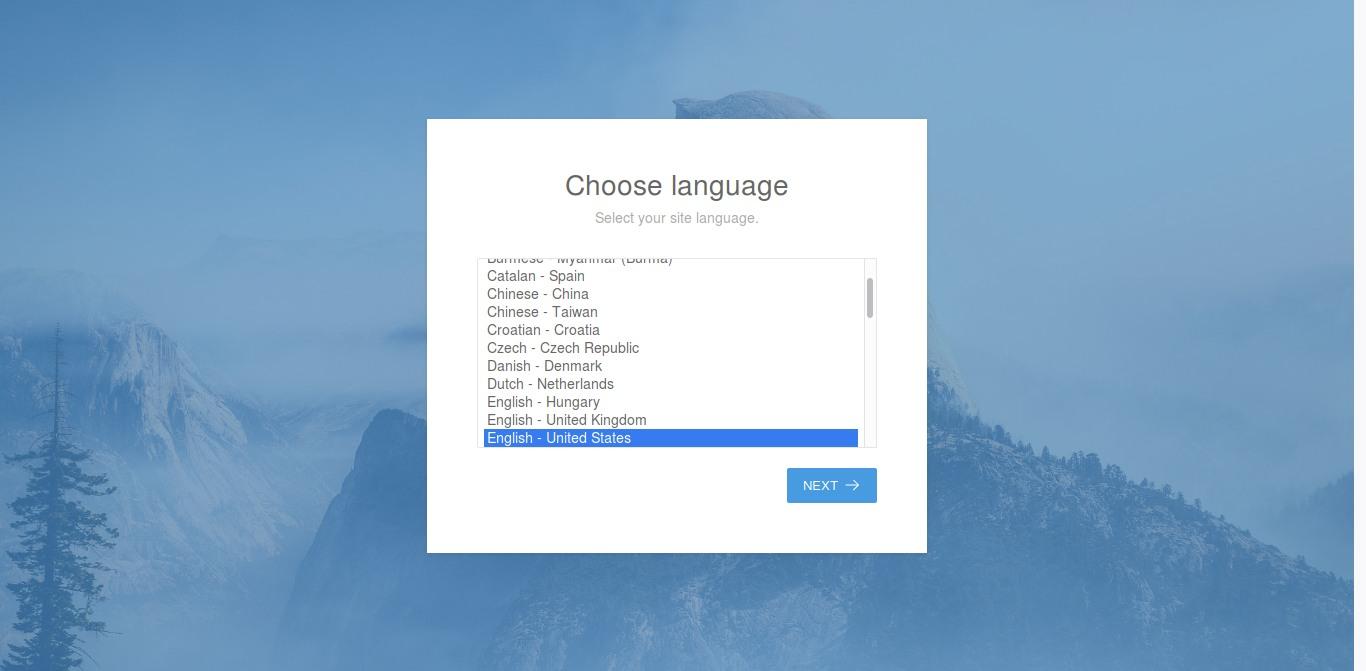 15.- Choosing the language